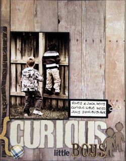 Curious boys