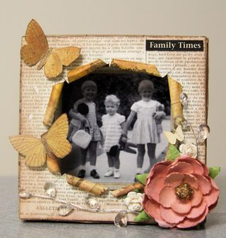 Family Times shadow box